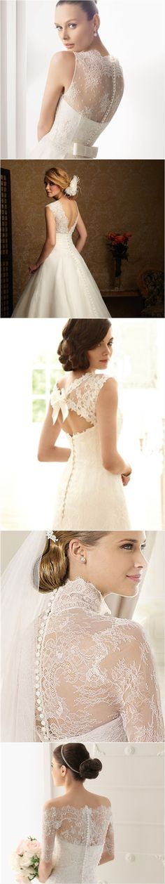 Lace back wedding dress lace back and wedding gowns on pinterest