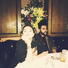Selena Gomez with her boyfriend.