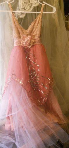 Blush pink dress sequins