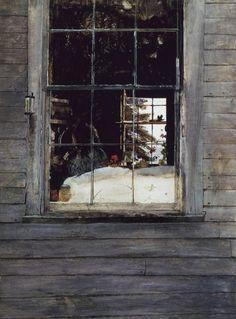 Geraniums - Andrew Wyeth (American, 1917-2009)