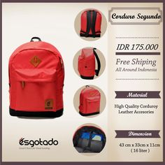 "Corduro Segundo Tricerio IDR 175.000 Free Shipping All Around Indonesia Material High Quality Corduro 14"" Laptop Sleeve Leather Accessories Dimension 43cm x 33cm x 11cm 16 Lite"