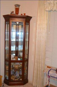 $300.00 Each   Corner Curio Cabinet