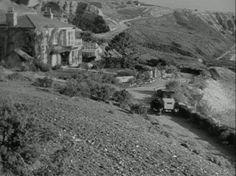 """""""Gull Cottage"""" from 1947 film, """"The Ghost and Mrs. Muir"""". The movie was filmed entirely in California (though set in England); built in Palos Verdes by 20th Century Fox's production department & taken down after filming ended, the set had no running water or electricity, & ceilings were removable to accommodate lights & sound equipment."""