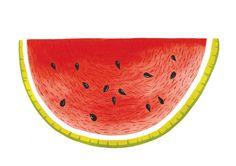 Caroline dowsett - gouache watermelon