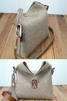 Felt Cross Body Handbag Womens Handbag Gift for her Wool by Rambag