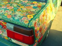 Floral pattern on a Toyota