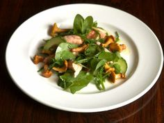 sea trout & samphire salad with girolles