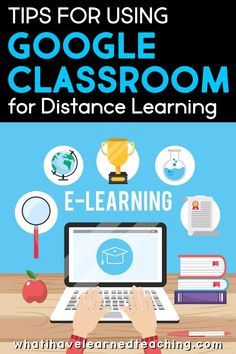 Teachers are using Google Classroom for distance learning. Here are some tips and resources for starting out using google classroom with your elementary students. Learn to assign work for students and help them navigate the new distance learning and at-home learning requirements from schools.