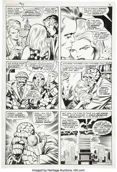 Fantastic Four #94, January 1970, original art by Jack Kirby (pencils) and Joe Sinnott (inks) Comic Book Pages, Comic Book Artists, Comic Books, Jack Kirby, The Mighty Thor, New Gods, Silver Surfer, Fantastic Four, American Comics