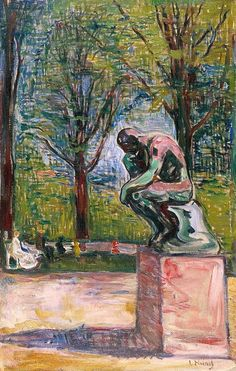 The Thinker (1907) by Edvard Munch | Lone Quixote | #EdvardMunch #munch #art #expressionism #painting