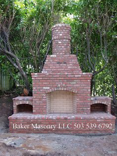 Outdoor Brick Fireplace (Baker Masonry LLC 503 539 6792) by bakermasonry, via Flickr