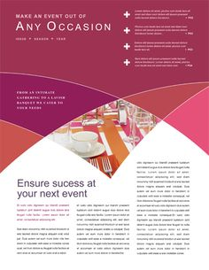 Event planning newsletter 9 best event planning images on pi Event Planning Business, Event Planning Design, Event Planning Template, Newsletter Design, Newsletter Layout, Minimal Web Design, Page Design, Layout Design, Design Design