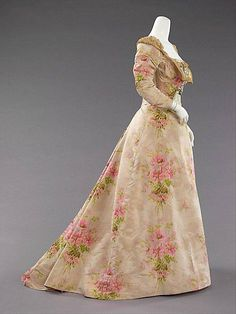 Evening dress from the House of Worth c. 1897