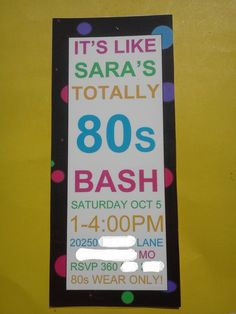 Awesome printable 80's invitation! Great for a birthday or 80's themed party! #80's #birthday #party #invitation