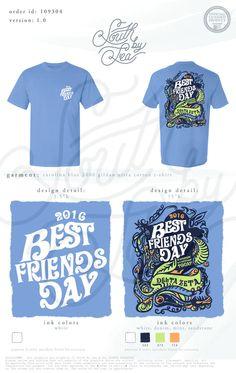 Delta Zeta | DZ | Best Friends Day | Throwback Groovy T-Shirt Design | South by Sea | Greek Tee Shirts | Greek Tank Tops | Custom Apparel Design | Custom Greek Apparel | Sorority Tee Shirts | Sorority Tanks | Sorority Shirt Designs