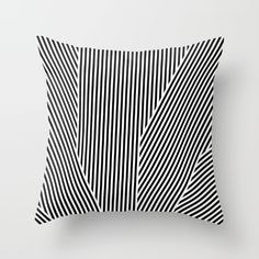 5050 No.1 Throw Pillow, black & white graphic pillow, trend pillow, monochrome pattern pillow, monochrome print pillow, black and white decor