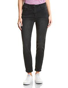 edb807c4f10209 Cecil Damen Slim Jeans 371545 Toronto Grau (Grey Used wash 10189) W31/L28