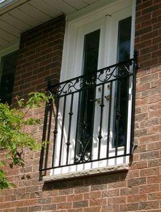 Juliette balcony on custom french doors