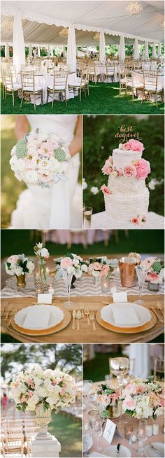Featured Photographer: Acres Of Hope Photography; Chic pink wedding reception details
