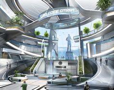 ArtStation - Star citizen - Terra s atrium, Nicolas Ferrand - This concept brings to mind Alex's corporate HQ.