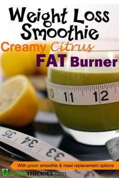 Boost your metabolism with this gorgeous Creamy Citrus Fat Burning Smoothie!  (#Gluten Free, #Grain Free, #Paleo, #Vegan, #Dairy Free, #Sugar Free) To get the recipe, click here: http://www.greenthickies.com/creamy-citrus-fat-burner-weight-loss-smoothie/