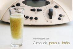 Zumo de pera y limón con thermomix
