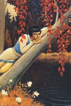 Illustrated by Rudolf Koivu, 1940    Rudolf Koivu was Finnish artist, who mainly illustrated fairy tales.