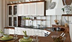 Maalaisromanttinen keittiö Home Hacks, Kitchen Cabinets, Home Decor, Decoration Home, Room Decor, Cabinets, Home Interior Design, Dressers, Home Decoration
