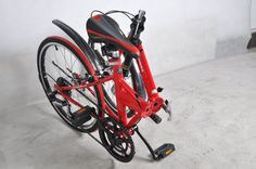 """Two types of folding bike in 6 variations of futuristic design Less effort while driving – our bikes have 6 speeds Easy to storage – it takes 10 second to fold it Renowned supplier: SHIMANO – Flywheel, Shift Level, Derailleur High quality material – high carbon steel & aluminum alloy Our folding bikes are suitable for adults – wheel size """"20″"""