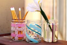 Washi tape and spare jars