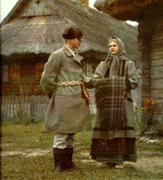 People in coats from Dzukija. 2nd half of the 19th c.