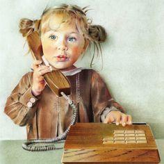 "Saatchi Online Artist: Anna Roberts; Pastel, 2012, Drawing ""Chat"""