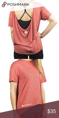 Pure Barre Pony Tee Worn twice, perfect condition! Price firm. Alternative Tops Tees - Short Sleeve