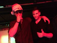 Stephen Amell and Colin Donnell X-mas party-there may or may not be some liquor involved here.