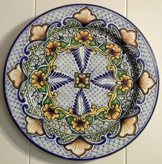 red talavera plate | CIT Gal's first piece of Talavera which is painted in the Traditional ...