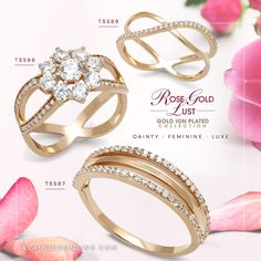 the beautiful rose gold jewelry featuring high quality 925 sterling silver and aaa grade cz stones