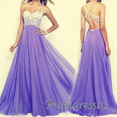 Prom dress 2016, purple one shoulder senior prom dress, Unique design handmade long prom dress for teens http://dresscomeon.storenvy.com/collections/1015812-popular-prom-dresses/products/7274340-a-line-amazing-beading-one-shoulder-prom-dress-red-long-chiffon-backless-eve