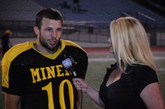 NEPA Miners wide receiver Jared Manzer interviews with Fox 56 after his three Touchdown performance. The Miners won 36-8 to go 2-0 in the pre-season.