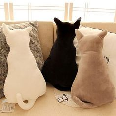 Creative Lovely #Cat Shaped Design #Throw #Pillow