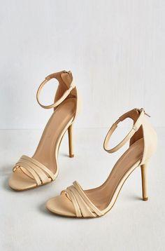 Sought-After Sophistication Heel in Ecru