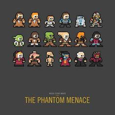 8-Bit Movie Cast Caricatures - Ty Lettau Renders Star Wars Characters in Mega Man-Like Style (GALLERY)