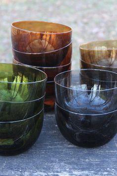 Handblown Tinted Glass Como Bowl, Set of 4