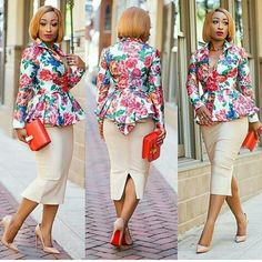 Classy and up-to-date Corporate wear for ladies. Latest African Fashion Dresses, African Print Dresses, African Dress, Nigerian Fashion, Ankara Fashion, Corporate Outfits, Corporate Wear, African Attire, African Wear