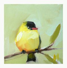 Goldfinch no. 29 original bird limited edition by prattcreekart
