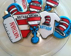 Dr. Suess Baby Shower Cookies