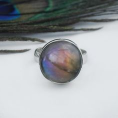 Purple Labradorite Ring, Labradorite Jewelry, Multi Stone Ring, Engagement Gift  #Labradoritering #Silverring #Boholook #Multifiregemstone  #Trendyring #Occasionring #Meditationring #Bridesmaidring #Gypsyring  #Roundgemstone #Engagementring #ChristmasGift Labradorite Jewelry, Gemstone Jewelry, Boho Jewelry, Unique Jewelry, Jewellery, Bridesmaid Rings, Gypsy Rings, Blue Topaz Ring, Handmade Silver