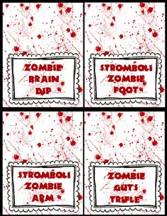 Zombie Blood Place Cards - Think The Walking Dead #zombie #printable #Halloween