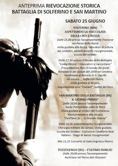 Rievocazione Storica Battaglia di Solferino e San Martino http://www.panesalamina.com/2016/48068-rievocazione-storica-battaglia-di-solferino-e-san-martino.html