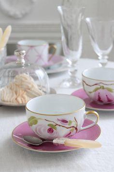 Elegant teacup and socer