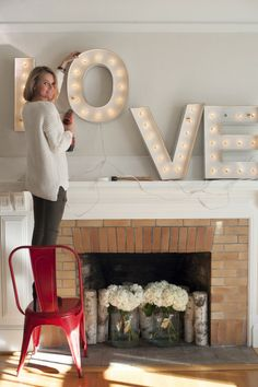 Inside Fireplace Decor love this! i am totally painting my black fireplace screen high